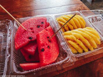 Bangkok to Ko Kut_fresh fruit for sale at boonsiri ferry terminal