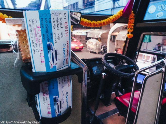 Bangkok to Ko Kut_front row seats with tickets on boonsiri bus to Koh Kood