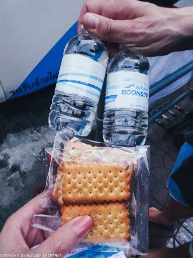 Bangkok to Ko Kut_provided snacks of boonsiri