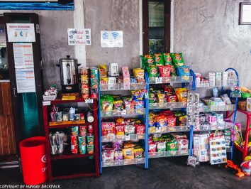 Bangkok to Ko Kut_snacks for sale at boonsiri ferry terminal