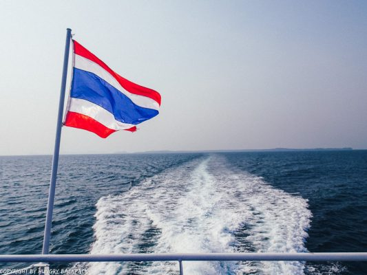 Bangkok to Ko Kut_thai flag on boonsiri ferry