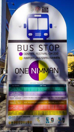 Chiang Mai Bus stop_One Nimman