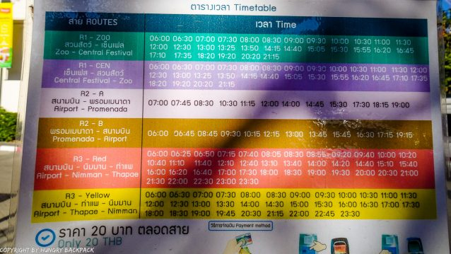 Chiang Mai public Bus_Timetable One Nimman
