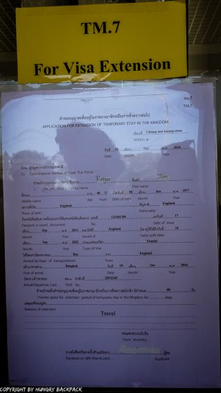 Extend Tourist Visa_TM7 example form_front filled out