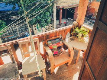 Huen Chiang Man Hostel accommodation Chiang Mai Old Town balcony