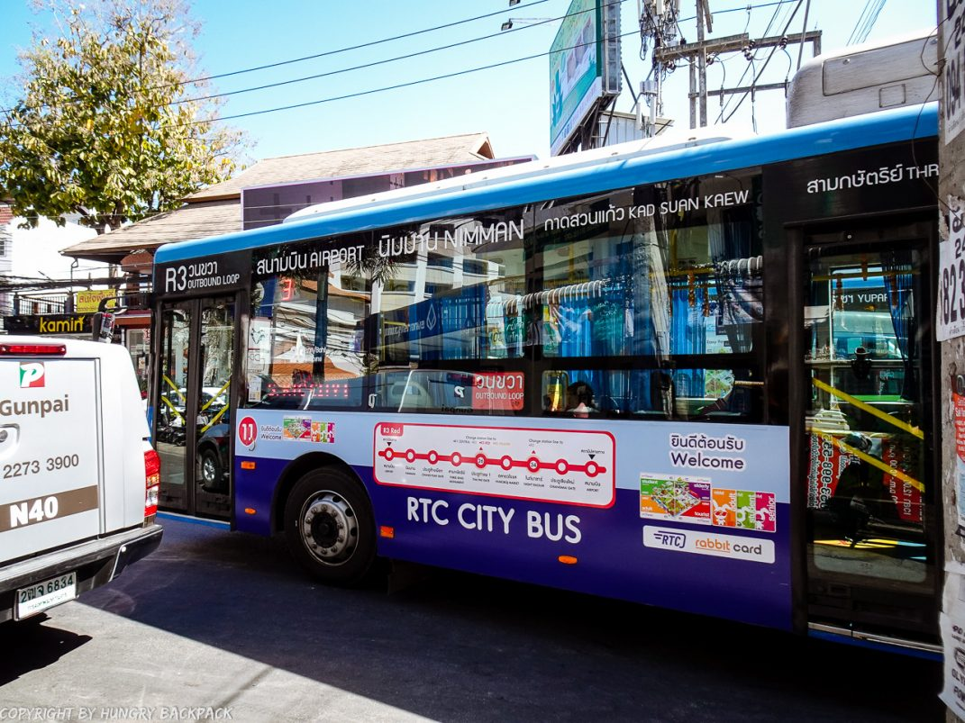 chiang Mai RTC City Bus_Airport to Old Town via Nimman