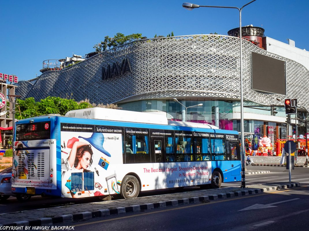 chiang Mai RTC City Bus_Airport to Old Town via Nimman Maya Mall