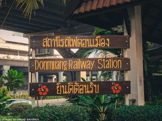 Don Mueang Airport to Bangkok City by train_Bangkok train platform