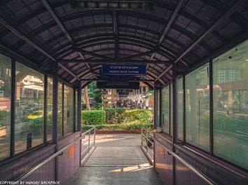 Don Mueang Airport to Bangkok City by train_End foot path at Bangkok bound platform