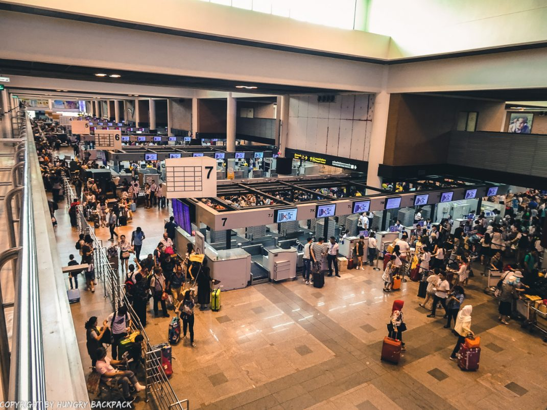 Don Mueang to Bangkok City by public transport_Airport hall inside