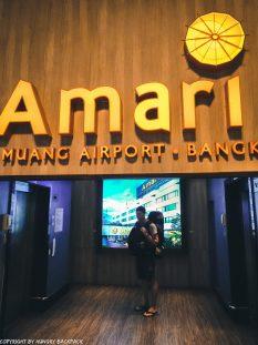 Don Mueang to Bangkok City by train_Elevator to Amari Hotel
