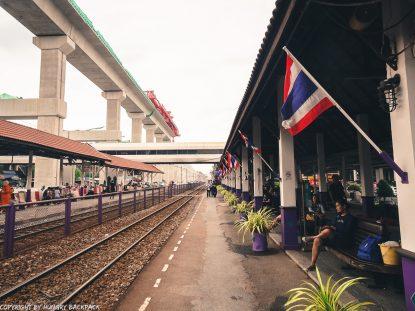 Don Mueang to Bangkok City by train_platform airport