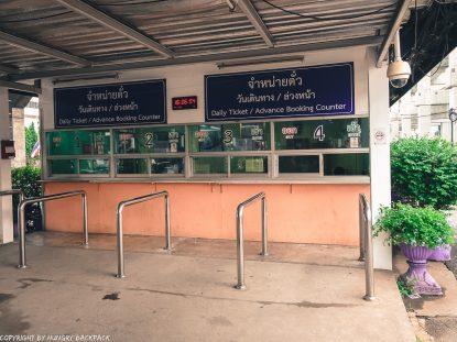 Don Mueang to Bangkok City by train_ticket counter platform