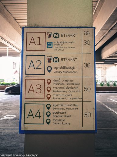 Overview sign Airport Busses and Fares A1 A2 A3 A4