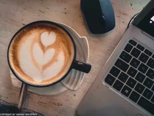 work-friendly cafes Canggu_Nook_coffee on desk