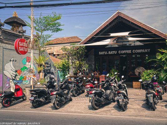 work-friendly cafes Canggu_Satu-Satu_cafe outside