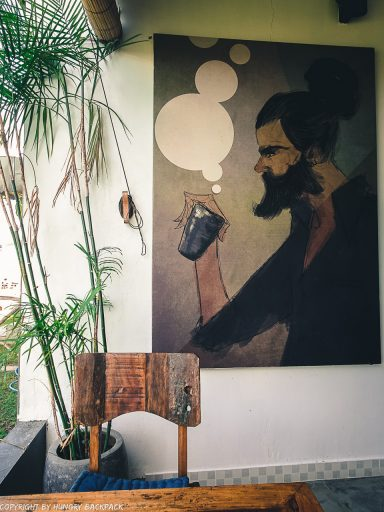 work-friendly cafes Canggu_disctrict cafe_wall art