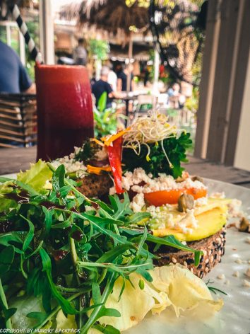 work-friendly cafes Canggu_milu by nook_avocado toast