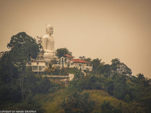 Big Buddha in Kandy from the distance