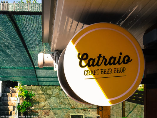 Craft beer Tour Porto_Catraio_sign outside terrace