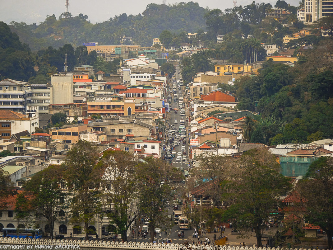 Kandy City Center from Viewpoint