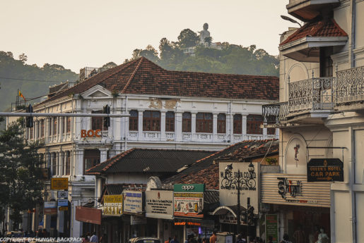 Kandy City Centre with Buddha in the Back