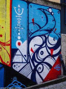 Porto Streetart_Rua Madeira_Hazul wave and trident