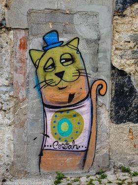 Porto Streetart_cat by costah_Escadas do Codeçal _