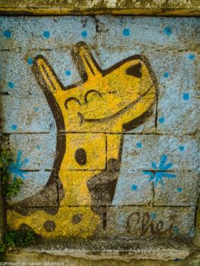 Porto Streetart_giraffe Chei Krew_Escadas do Codeçal