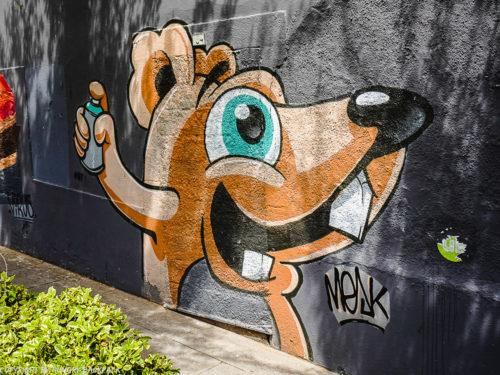Porto best street art_rat with spraycan_Mesk_Praça dos Poveiros