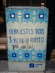 Porto street art_Rua das Flores_electrical box Godmess