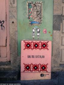 Porto street art_Rua das Flores_electrical box godmess and stickers