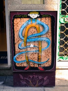 Porto street art_Rua das Flores_electrical box_costah
