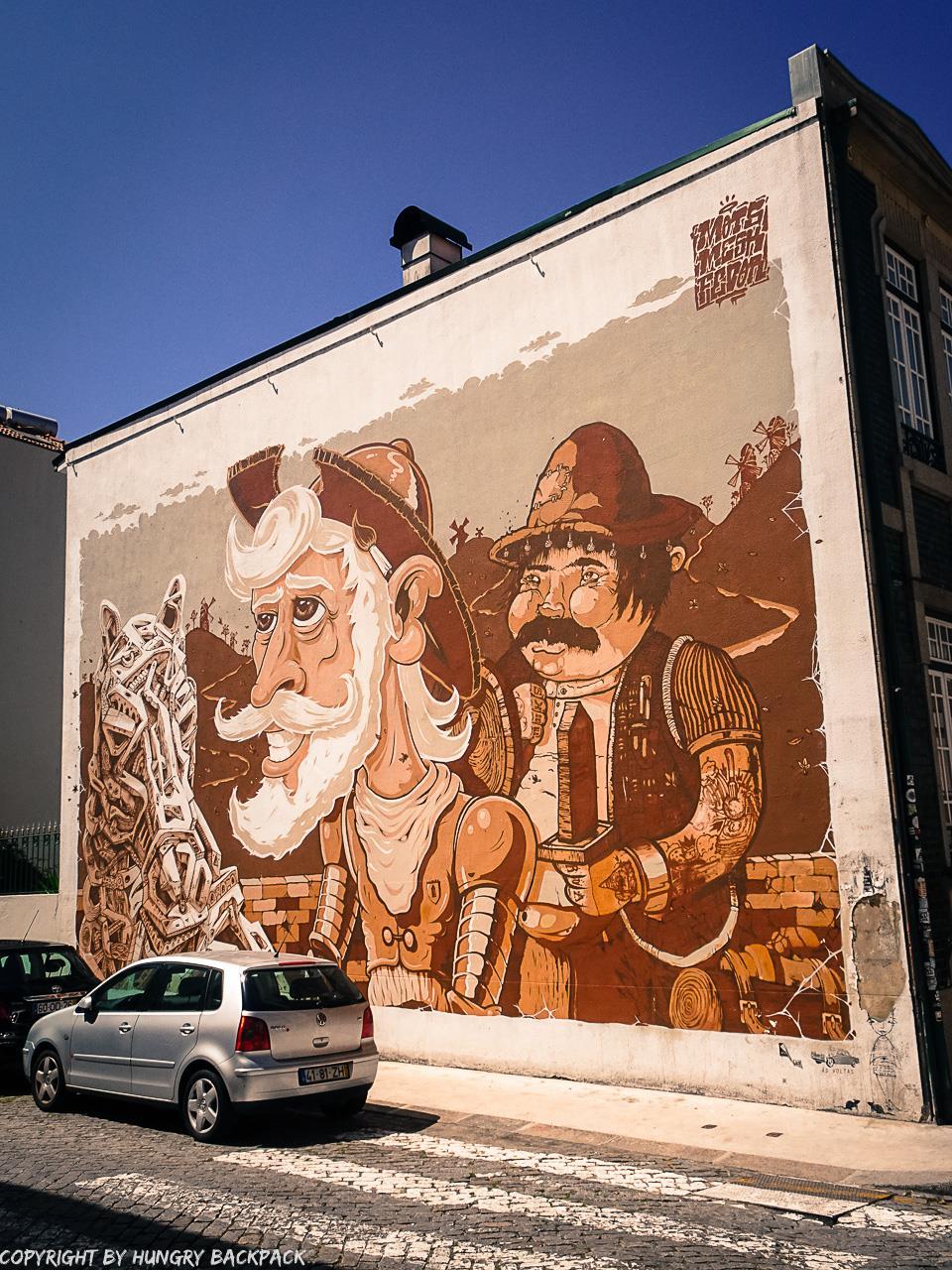 Porto street art_Rua de Miguel Bombarda_D. QUIXOTE by MeskFedorMots