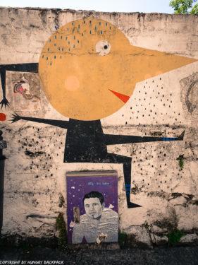 Porto street art_Rua de Miguel Bombarda_electrical box with man sitting on top