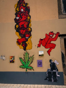 Porto streetart_Rua de Miguel Bombarda_various streetart designs