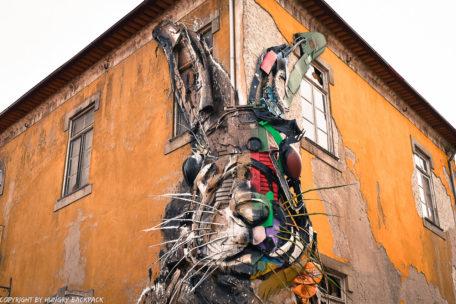 Porto street art_half rabbit by Bordalo II_4