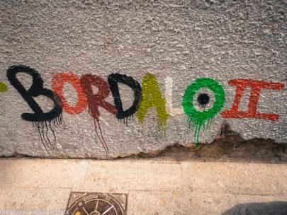 Porto street art_half rabbit by Bordalo II_signature