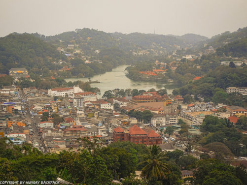 views of Kandy from top of Big Buddha