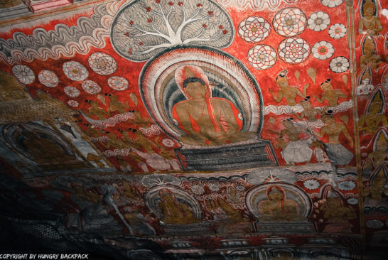 Dambulla_Dambulla cave temples_wall art