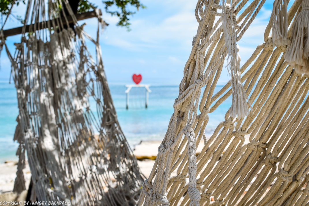 Gili Trawangan on year after close up hammock