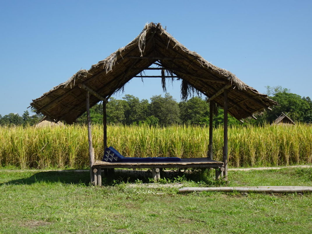 Straw hut to relax at Huay Tueng Tao