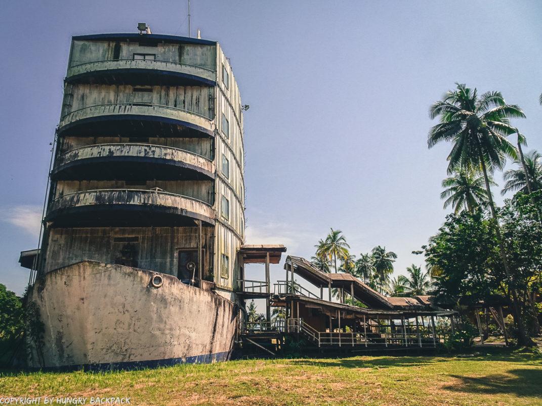 View of abandonded cruise ship Koh Chang