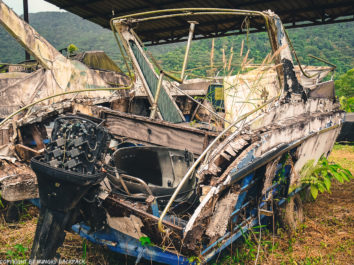 abandonded motorboats_ghost ship Koh Chang