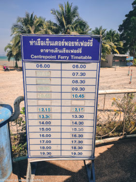 Ferry timetable Koh chang_Centerpoint Ferry Pier Koh Chang_DIY_999 Government Bus
