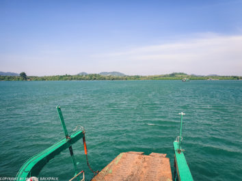 ferry crossing Centerpoint Pier Koh Chang_approaching mainland_diy Koh Chang Bangkok