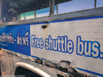 free but rusty shuttle bus to Bus Terminal_diy Koh Chang Bangkok_999 government bus