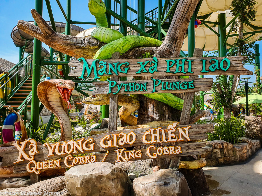 Aquatopia water park_entrance Python Plunge and Queen and King Cobra
