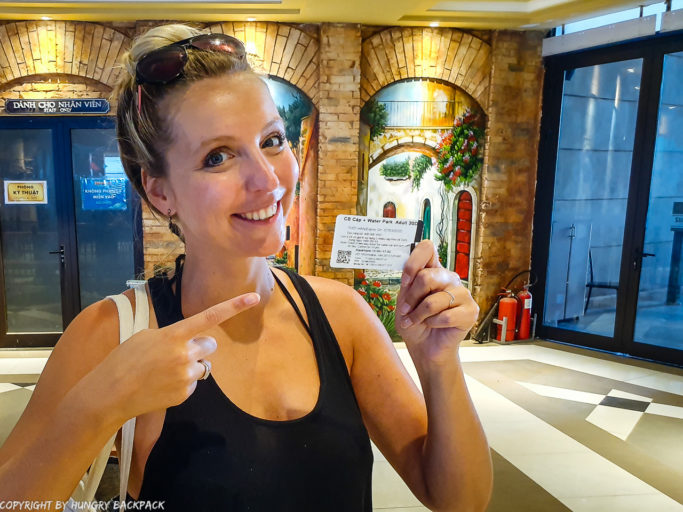 hu Quoc Cable Car_Berit holding ticket