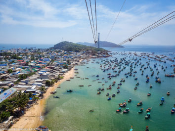 Phu Quoc Cable Car_view from cabin of An Thoi_